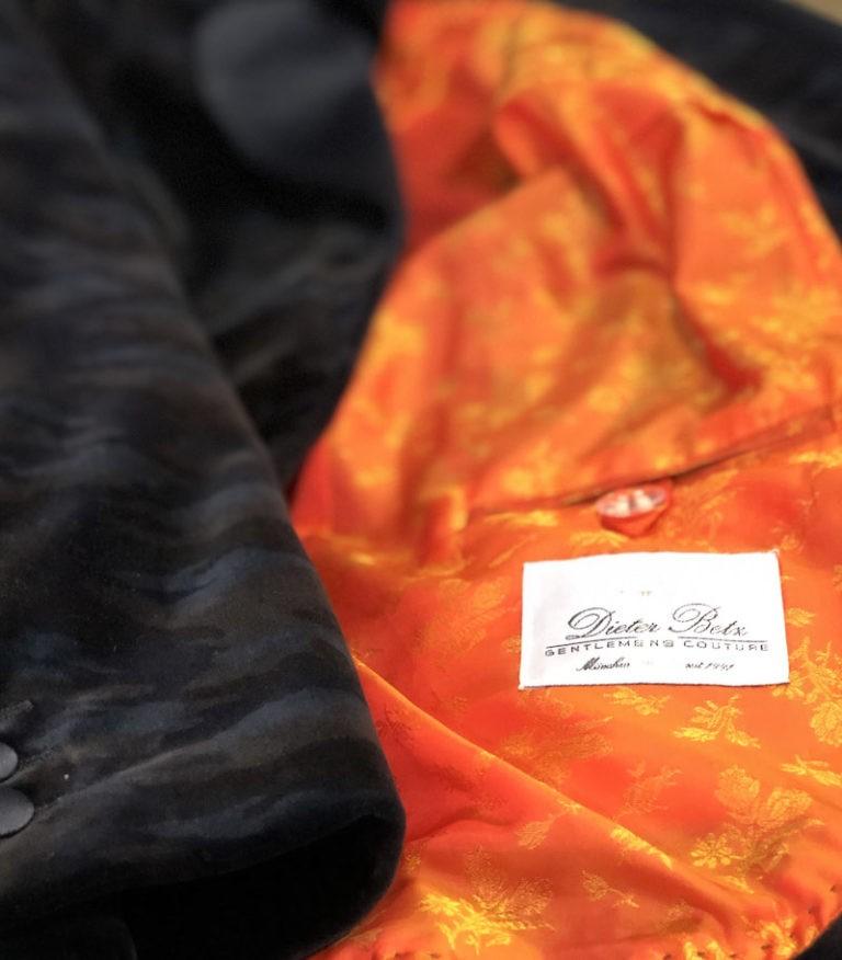Samtblazer Camouflage Damenmaßkonfektion