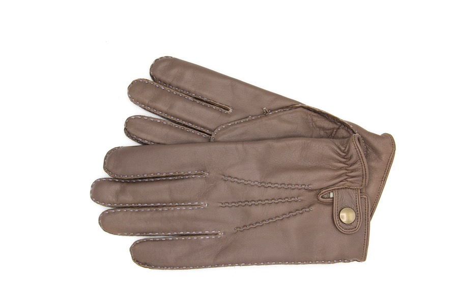 Handschuhe Hirschleder dunkelbraun